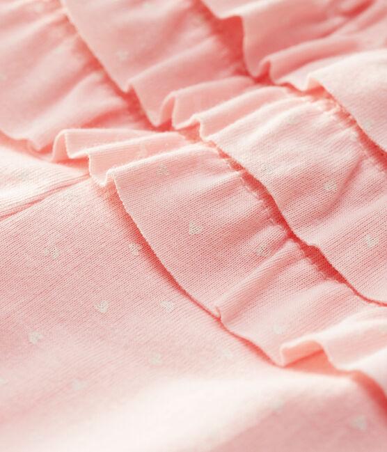 Baby girl's printed leggings Minois pink / Marshmallow white