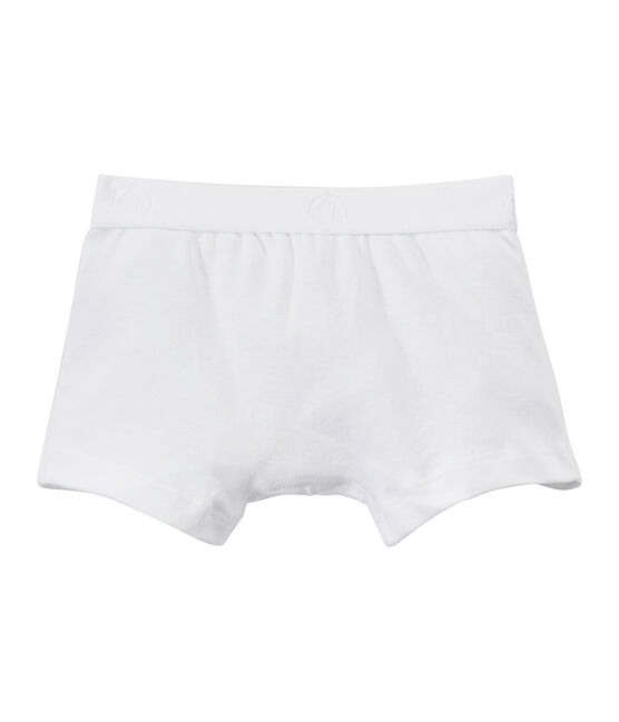 Plain boy's boxers Ecume white