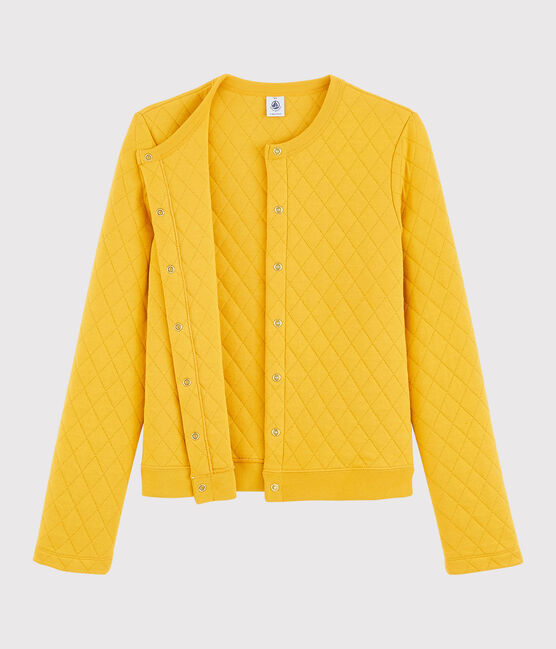 Women's tube knit cardigan Boudor yellow