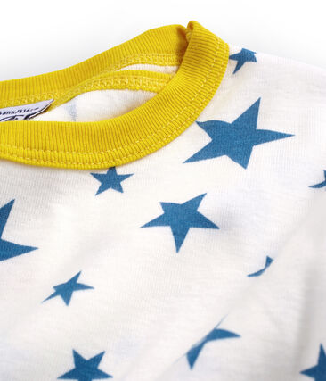 Boys' Snugfit short Pyjamas Marshmallow white / Alaska blue