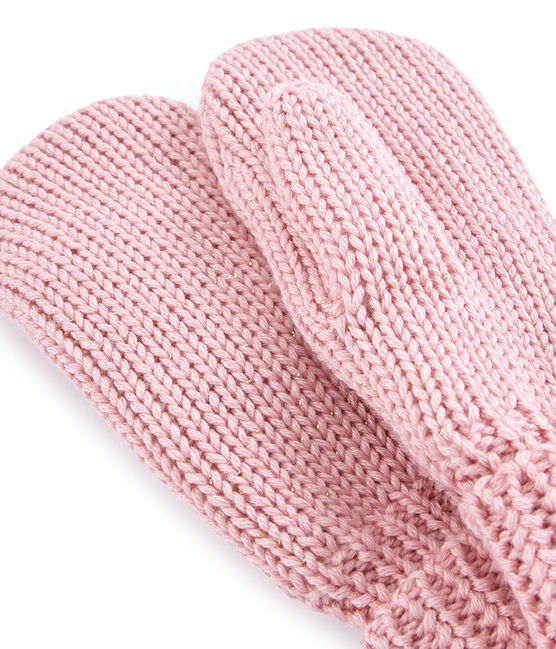 Girls' Mittens Charme pink / Or yellow