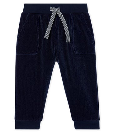 Baby Boys' Ribbed Velour Knit Trousers