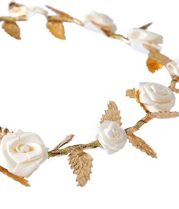 Flower crown for baby girls Dore Brillant brown