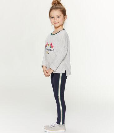 Girls' Screen Printed T-Shirt Beluga grey