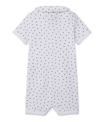 Baby girl's footless sleepsuit with heart print