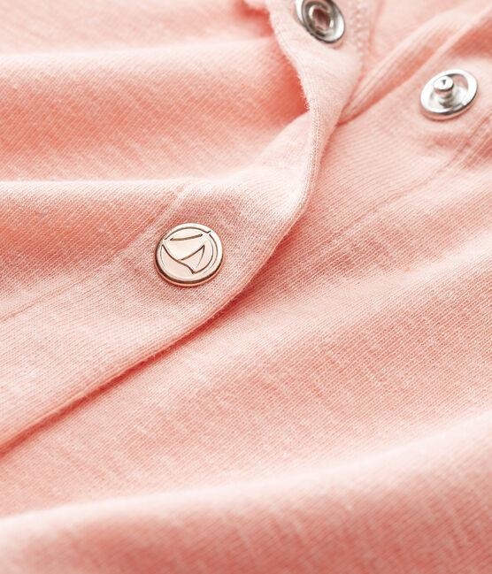 Baby girls' cotton/linen cardigan Rosako pink