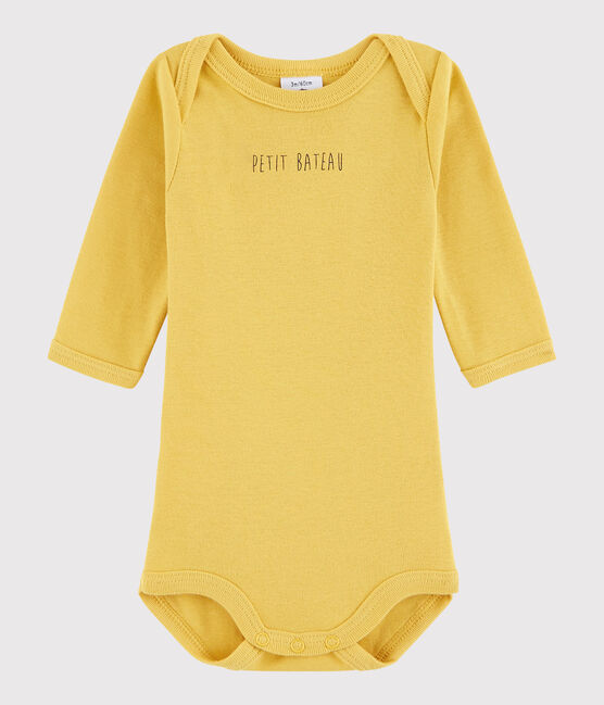 Baby Boys' Long-Sleeved Bodysuit Ocre yellow