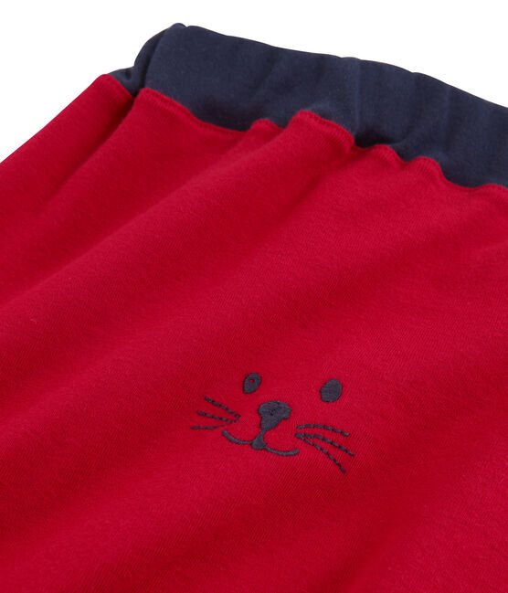 Baby boys' knit trousers Terkuit red