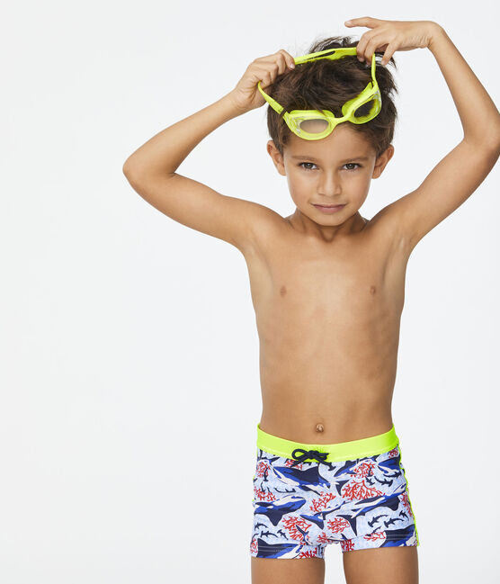Boys' Eco-Friendly Swimming Trunks Marshmallow white / Multico white