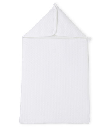 Baby sleeping bag in a padded tube cotton Ecume white