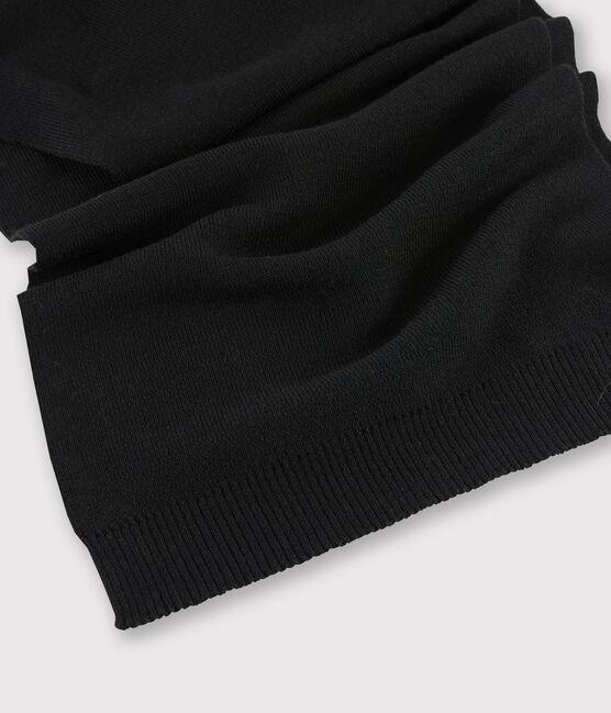 Women's woollen scarf Noir black