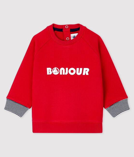 Baby boy's print sweatshirt Terkuit red