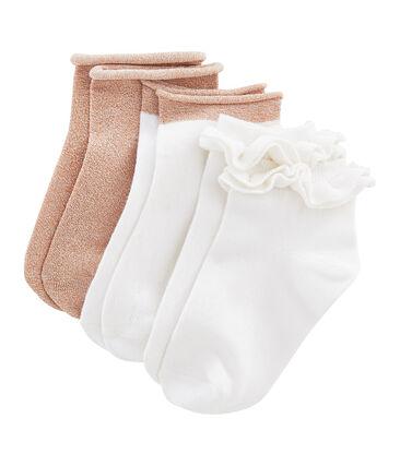 Box of 3 Pairs of Girls' Socks . set