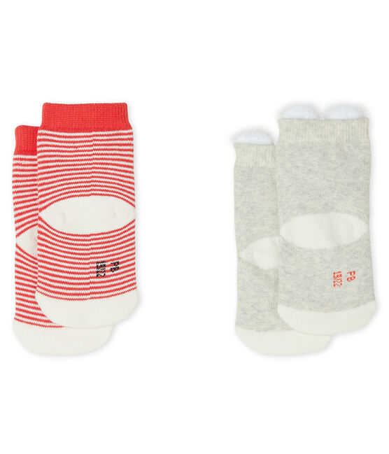 Unisex Babies' Socks - 2-Piece Set Beluga grey / Marshmallow white