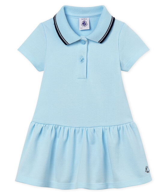 Baby Girls' Short-Sleeved Dress Bocal blue