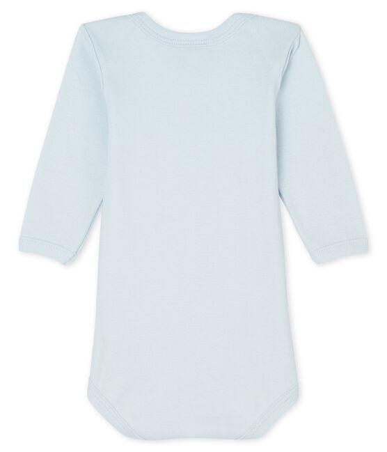 Baby boys-girls' long-sleeved bodysuit Fraicheur blue