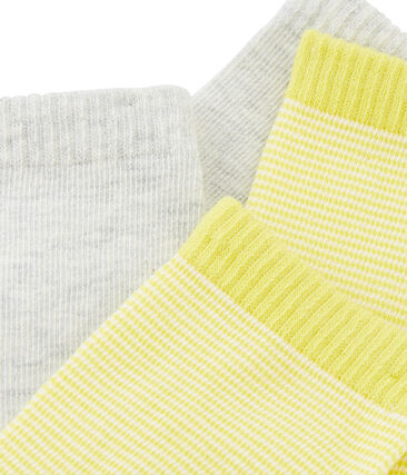 Set of 2 pairs of socks for boys Beluga grey