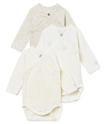 Unisex newborn baby long-sleeved bodysuit – 3-piece set