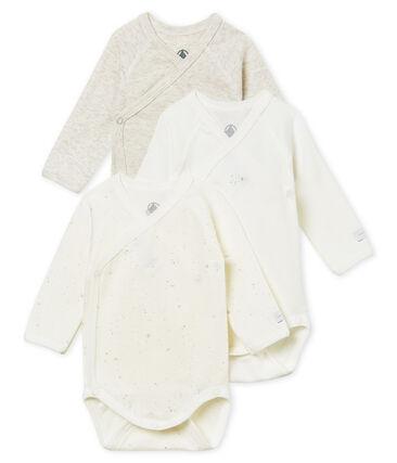 Unisex newborn baby long-sleeved bodysuit – 3-piece set