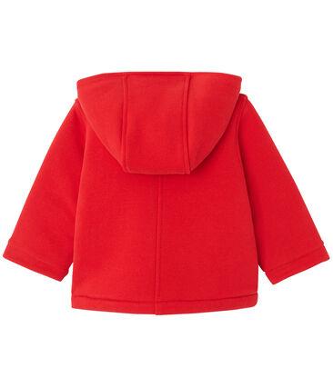 Baby girl's fleece duffle coat Froufrou red