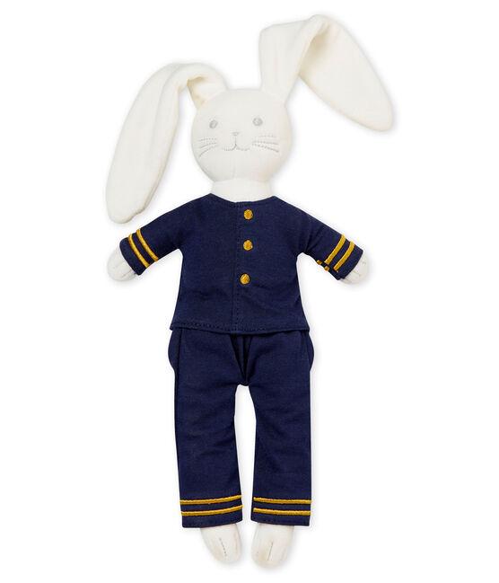 Sailor rabbit comforter Marshmallow white / Smoking blue