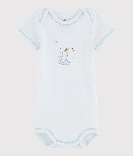 Baby Boys' Short-Sleeved Bodysuit Bocal blue