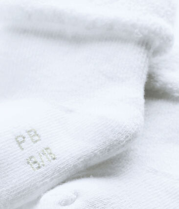 Socks made of snuggly, comfy terry towelling. Ecume white