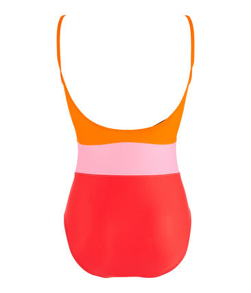 Women's eco-friendly swimsuit Peps red / Multico white