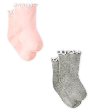 Baby Girls' Ankle Socks - 2-Piece Set