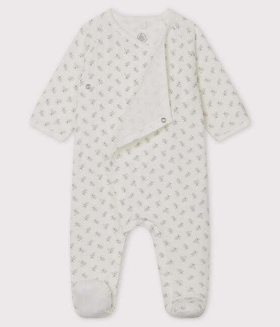 Babies' Bunny Tube Knit Sleepsuit Marshmallow white / Multico white
