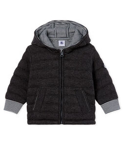 Baby Boys' Zip-Up Jacket in Quilted Tube Knit City Chine grey
