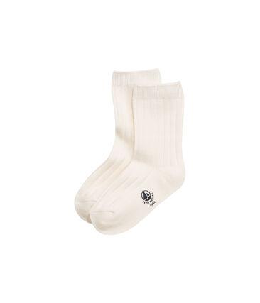 Boys' plain socks Coquille beige