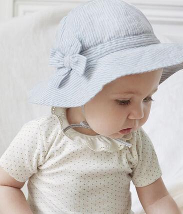 Baby Girls' Dress with Ruff Marshmallow white / Or yellow