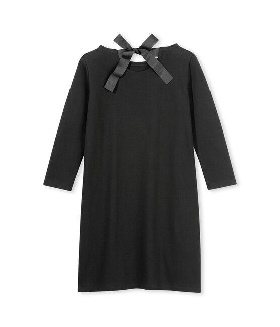 Long sleeved dress Noir black