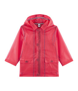 Unisex Children's Waxed Coat Geisha red