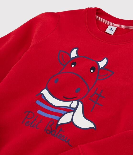 Unisex Fleece Sweatshirt Terkuit red
