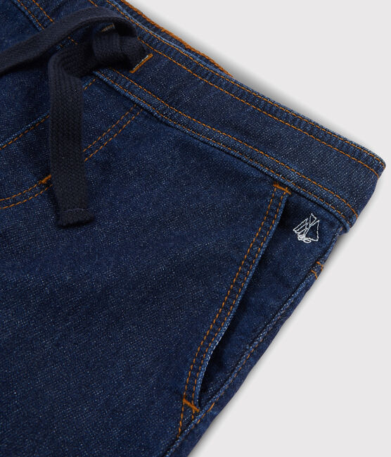 Boys' Denim Fleece Trousers Denim Bleu Fonce blue