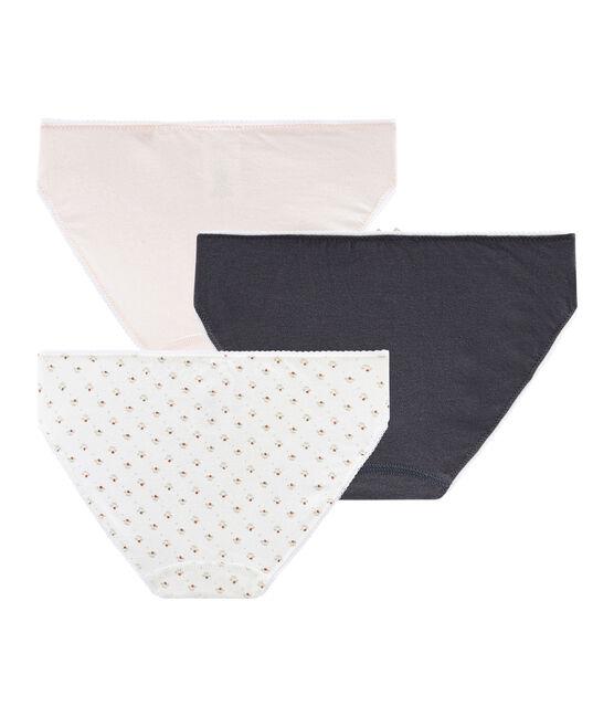 Girls' Stretch Cotton pants - Set of 3 . set