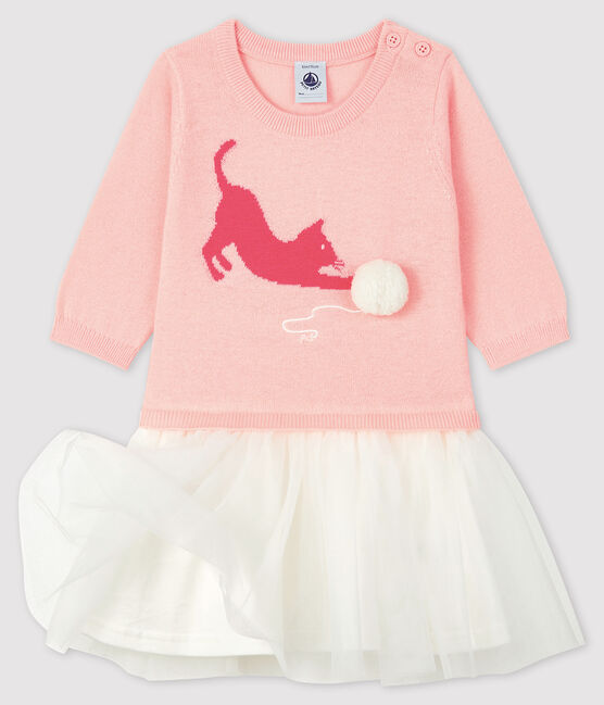 Baby girl's long-sleeved dress Minois pink