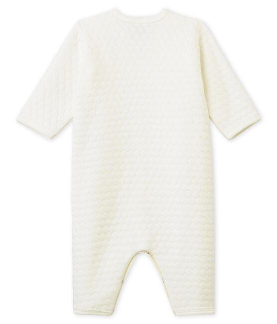 Unisex Babies' Tube-Knit Footless Sleepsuit Marshmallow white