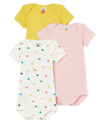 Baby Girls' Short-Sleeved Bodysuit - 3-Piece Set