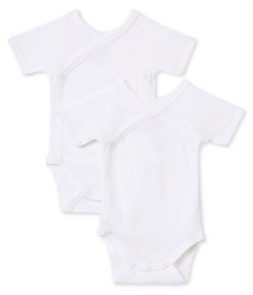 Unisex Babies' Short-Sleeved Newborn Bodysuit - Set of 2