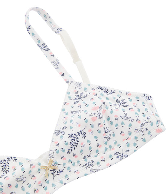 Girls' Padded Bra Marshmallow white / Multico white