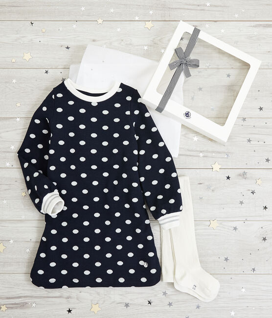 Girls' Dress and Tights Set . set