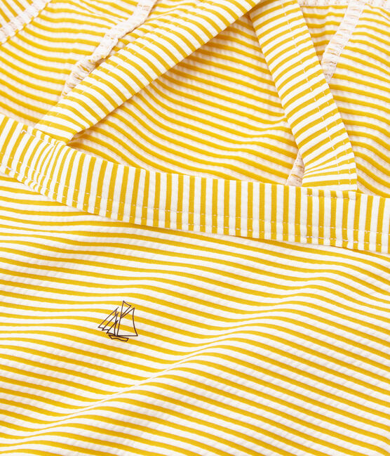 Girls' One-Piece Swimsuit Bamboo yellow / Marshmallow white