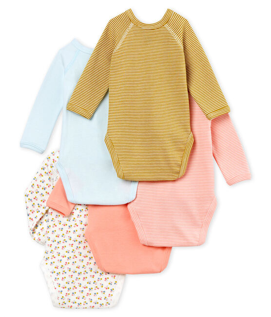 Baby Girls' Newborn Bodysuit - Set of 5 . set
