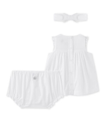 Baby girls' 3-piece set in poplin