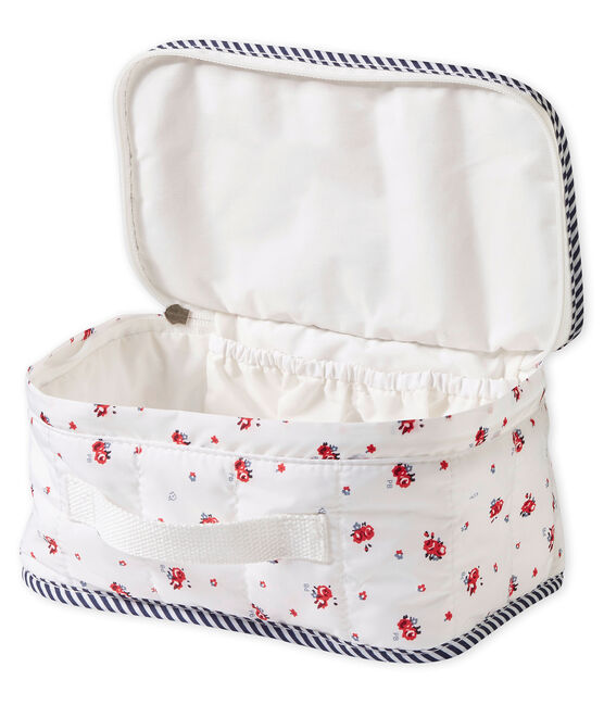 unisex baby's print toiletry bag Marshmallow white / Multico white