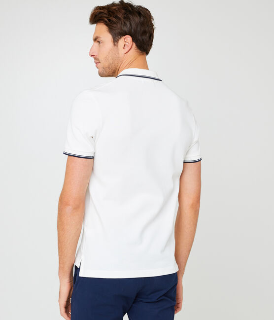 Men's short-sleeved polo shirt Marshmallow white