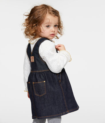 Baby girls' jean dungarees/dress.